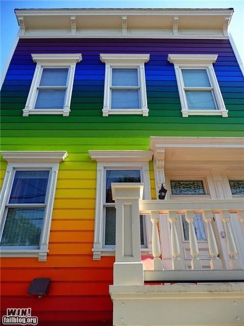 rainbowBeach Houses, Colors House, Future House, Dreams House, Painting House, Dream Houses, White House, San Francisco, Rainbows House
