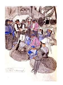 Mathurin Méheut a été nommé peintre officiel de la Marine en 1921.