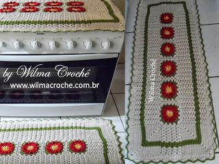 Wilma Crochê: Capa para tampa de fogão