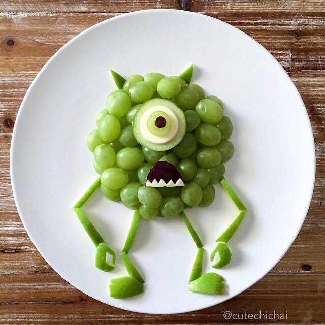 Grapes [as Mike] (As Food by CuteChiChai @Instagram) #MonstersInc