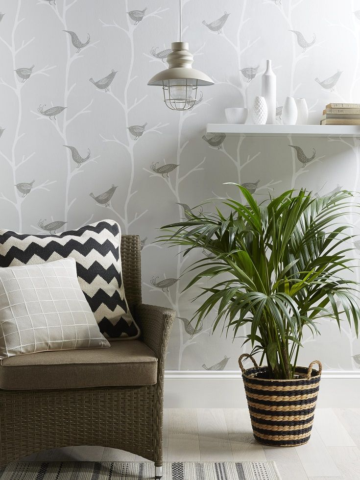 Bird Print And On Trend Greys Creates A Real Statement. Combine With Neutral  Furnishings Part 88
