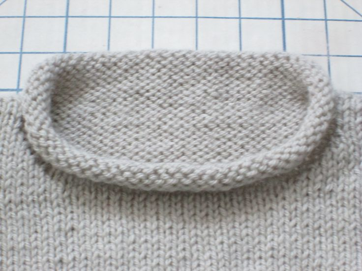 """Rolled Edge Collar Close Up.  Sweater Based on """"1,2,3, or 4 Pullover"""" by Gail Pfeifle of ROO  DESIGNS.  I Bought the Pattern from Ravelry."""