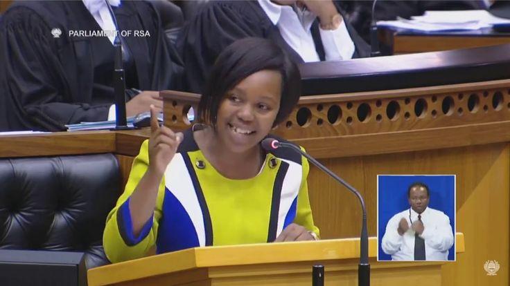 Democratic Alliance(DA) Hlomela Bucwa delivers the best speech in parlia...