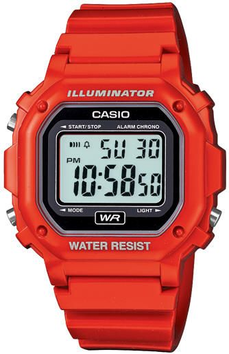 Men's Red Casio Digital Sports Watch F108WHC-4A