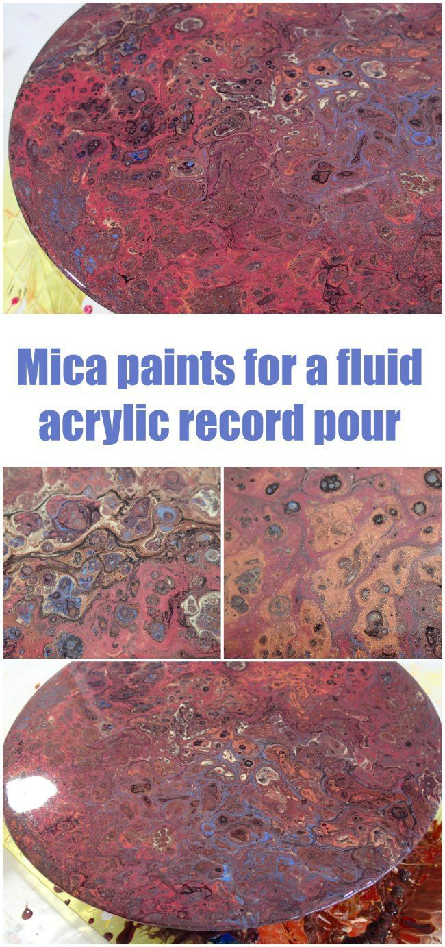Dirty pouring a record with my own mica paints acrylics for How to make fluid acrylic paint