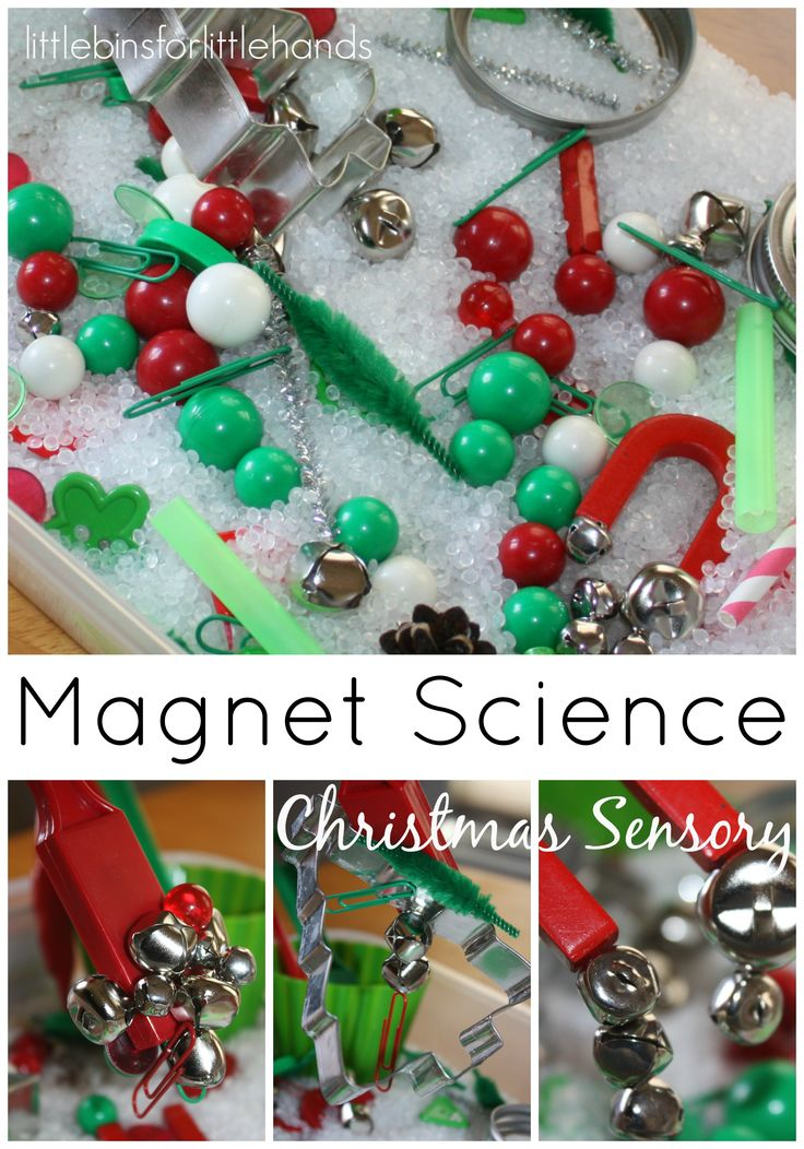Christmas Sensory Bin Magnet Science Sensory Play:
