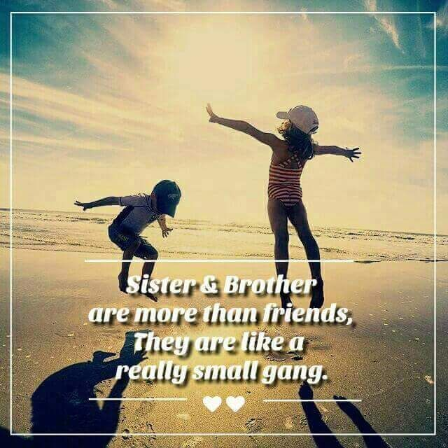 A Small Gang Brother Sister Love Quotes Sister Love Quotes I Love My Brother
