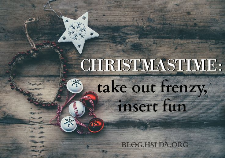 Christmastime Take out Frenzy Insert Fun | HSLDA Blog