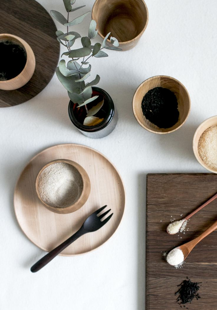 Thin Plate, Round Cup, Straight Cup, Cake Fork, Spice Spoon.