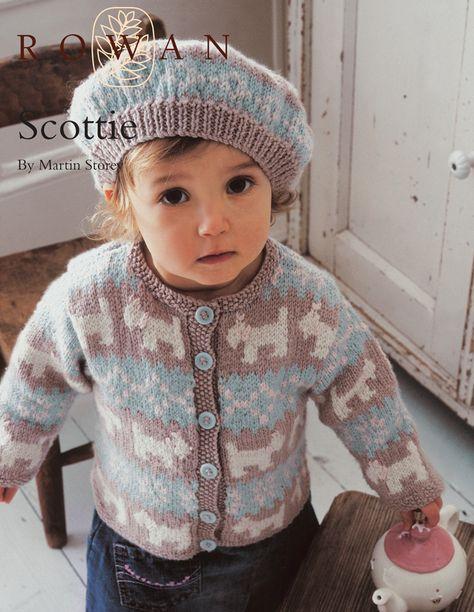 FREE Rowan Pattern: Scottie cardigan by Martin Story in Rowan Baby Merino Silk DK. 1-5 years. Register, log in and the pattern is free