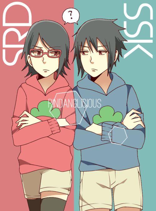 Sarada y Sasuke