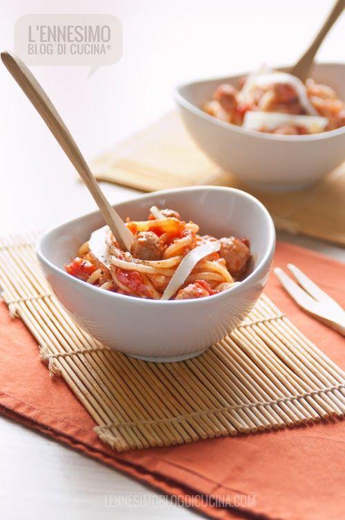 La ricetta degli spaghetti di kamut con sugo di pallottine abruzzesi ©lennesimoblog