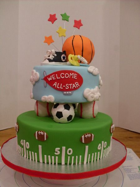 This was a bit out of my league....but not too bad...LOVE this for a sports centered baby shower!