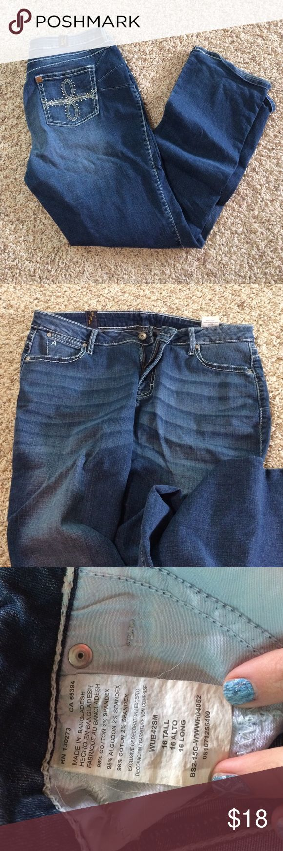Aura women's jeans Aura by wrangler jeans. 16 tall Wrangler Pants Boot Cut & Flare
