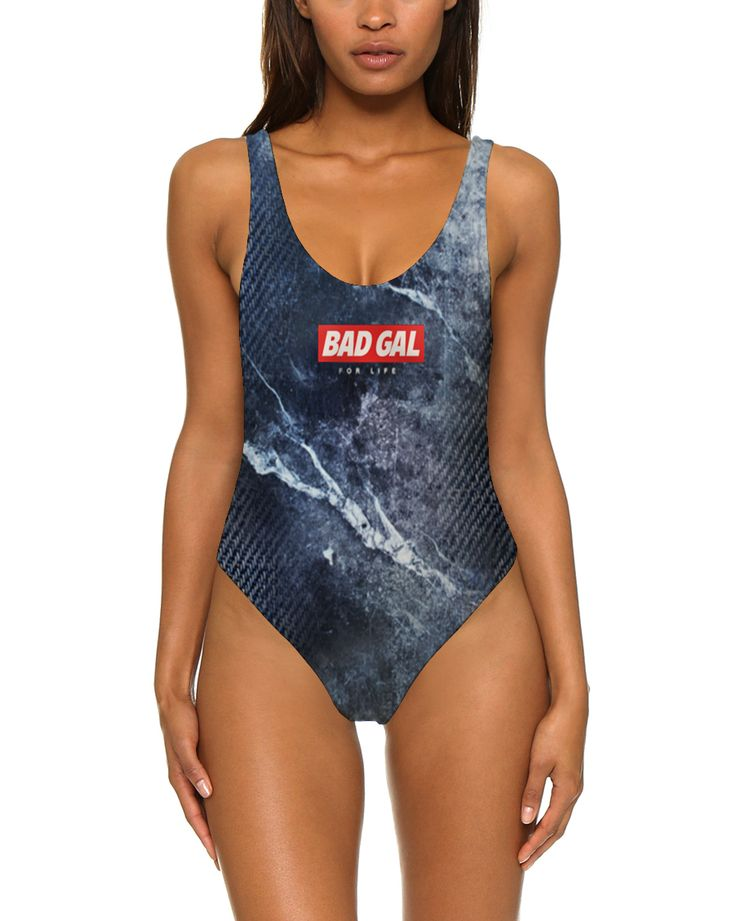 Bad Gal For Life / Blue (One Piece SwimSuit) - carnivourcreates