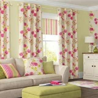 Next homeware living room - flowers and stripes - shabby chic style