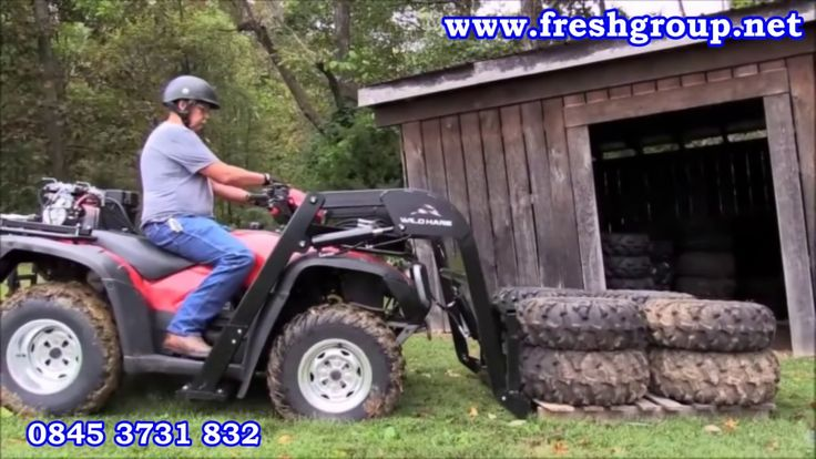 ATV Quad Bike hydraulic attachments. ATV Quad Bike Hydraulic Attachments convert your ATV into a powerful machine that digs, lifts, hauls, transports and levels. For more info: http://www.fresh-group.com/atv-quad-bike-hydraulic-attachments.html
