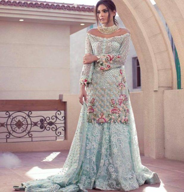 Pakistani couture Anus Abrar Bridal Formal Summer Collection 2017