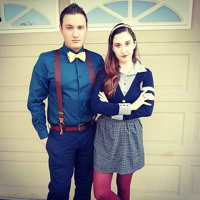 The 19 Best Couples Halloween Costumes of All Time | http://www.hercampus.com/entertainment/19-best-couples-halloween-costumes-all-time | DIY Chuck and Blair from Gossip Girl Costume