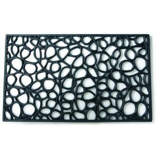 Loop Casual Black Door Mat (1'6 x 2'6)
