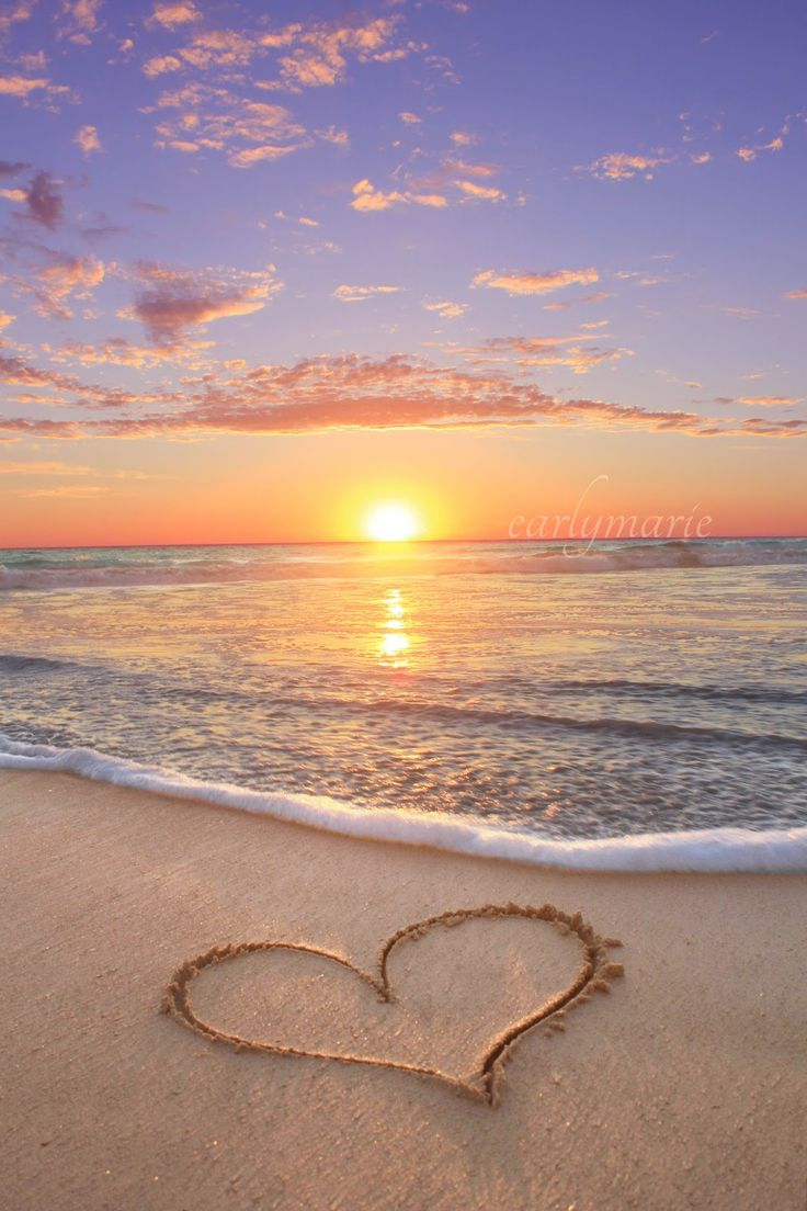 heart in sand | All Heart | Pinterest