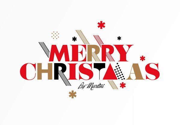 Some Christmas Themed Typography comprised of some simple yet elegant shapes and colours that work well!