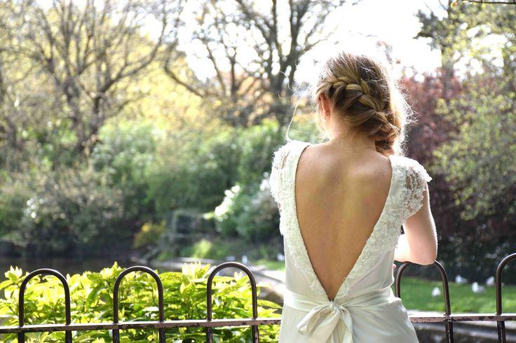 Edwina Arya Hepburn Gown Back www.edwinaarya.com