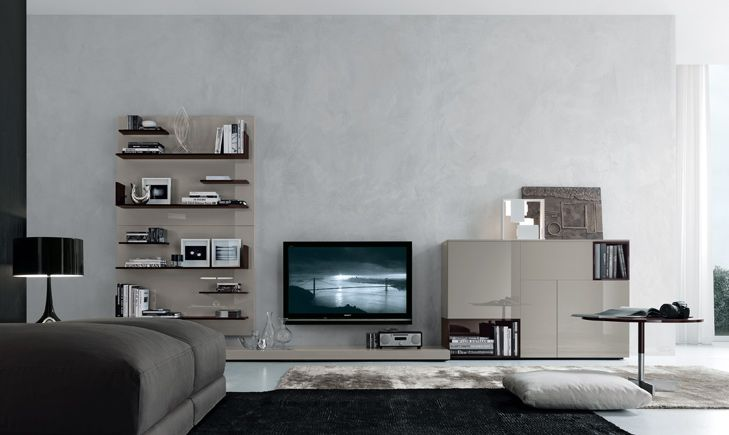 Front View of Open Wall System from the Jesse SF Day Collection | Jesse SF - modern furniture, italian furniture design from Jesse Italy. Exclusive San Francisco Bay Area authorized dealer