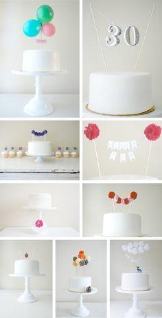 Toppers caprichosos en Decoración y detalles para fiestas de bebes, niños y adultos, para celebraciones de aniversarios, cumpleaños o cenas