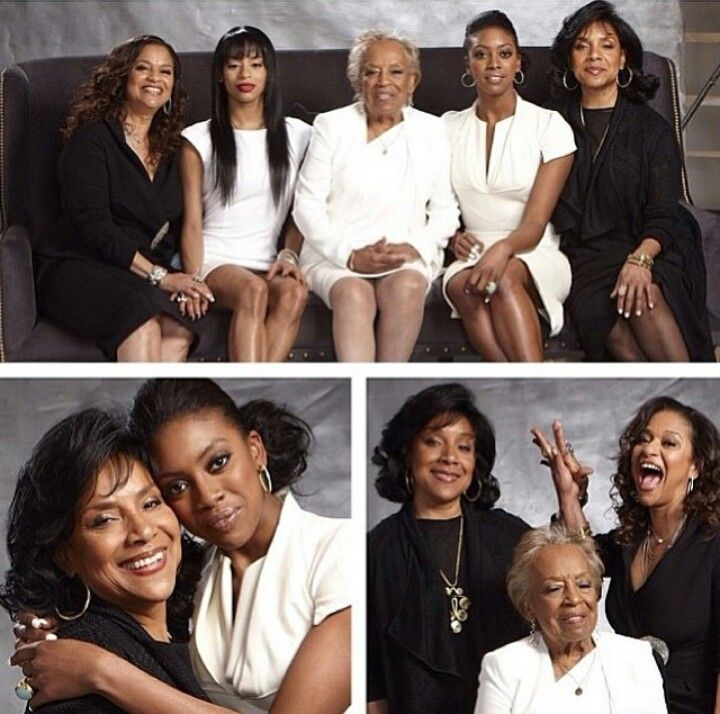 Phylicia Rashad, Debbie Allen their mother and daughters. A family with class.