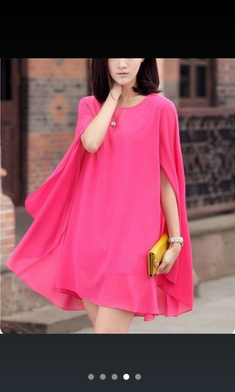 Cape dress, would be lovely with batik skirt