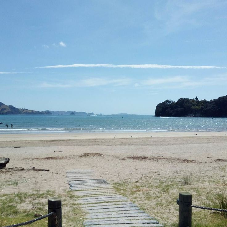 View on the way to town for lunch in #whitianga