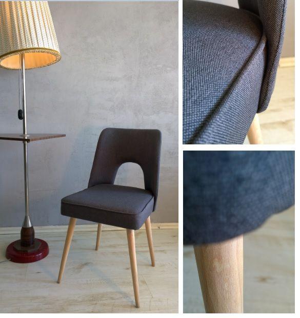 Unikalne krzesło pochodzące z Bydgoskich Fabryk Mebli. Pieczołowicie odrestaurowane - nowy wkład, wysokiej jakości tkanina, oczyszczone drewno.  Szukaj go na www.mybaze.com/pl/hogofogo