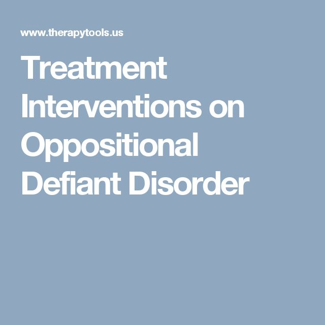 Treatment Interventions on Oppositional Defiant Disorder