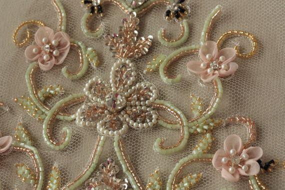 Designer bridal veil