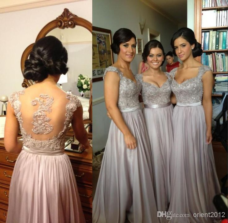 Cheap Sexy Bling Bling Bridesmaid Dresses Spaghetti Strap Sweetheart Hollow Back A-line Floor-length Custom Make Applique Brides Maid Dress, $59.25 | DHgate.com