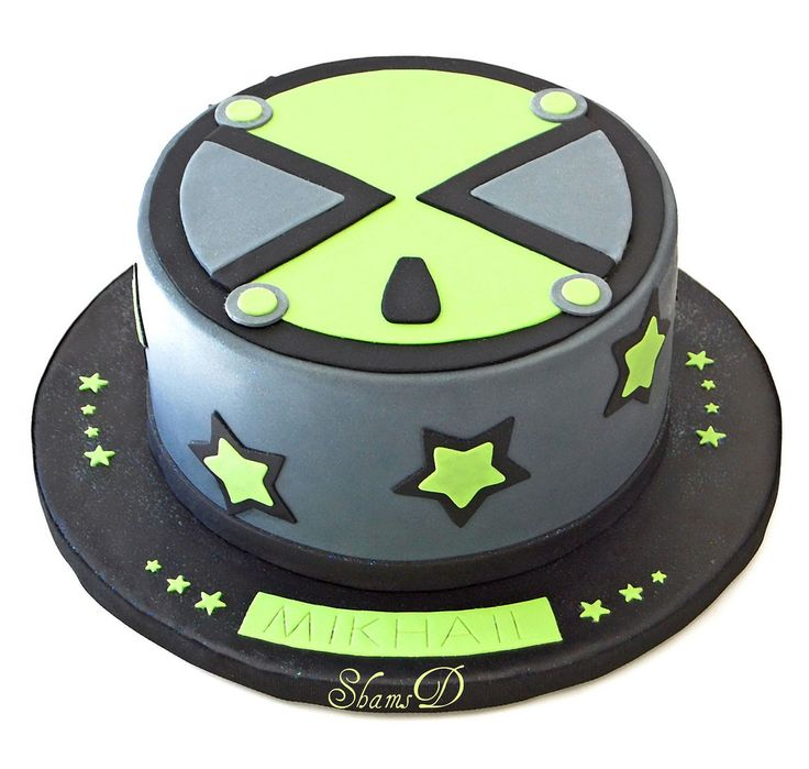 https://flic.kr/p/a5Ee2H | Ben 10 Cake | This is the pic the client e-mailed me.. www.flickr.com/photos/thehazelnutbakery/5609793543/