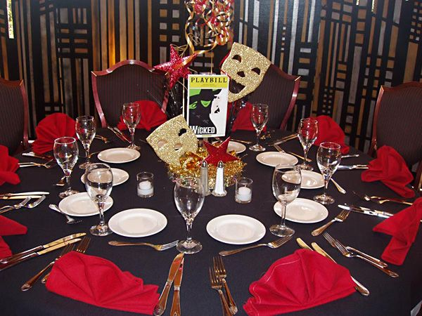 Broadway party centerpiece - Event Planner Orange County