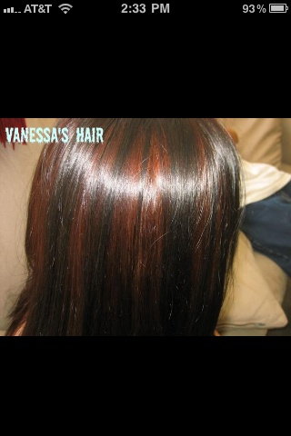 Dark Brown With Amber Highlights Hair Color Amp Style By