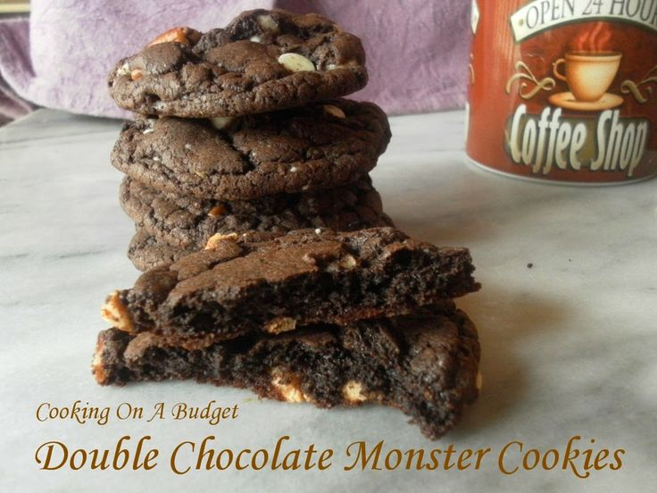Double Chocolate Monster Cookies | Cookies, Candies and Bars | Pinter ...