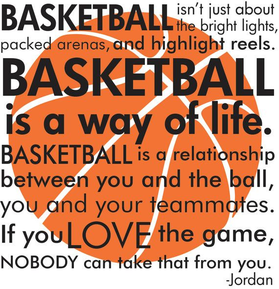 Basketball Michael Jordan quote with basketball subway art words vinyl  wall decal