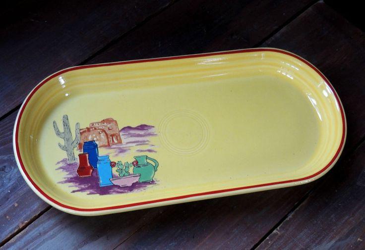 Fiestaware FIESTACANA Betty Crocker BREAD PLATE Dish Platter Southwestern Fiesta #Fiesta