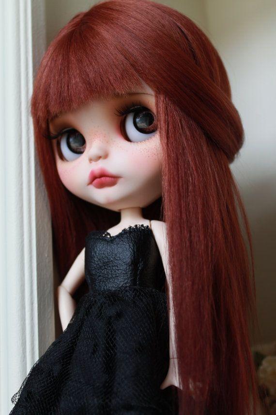 Adeline muñeca Blythe Custom OOAK arte por NDsDazzlingDollys