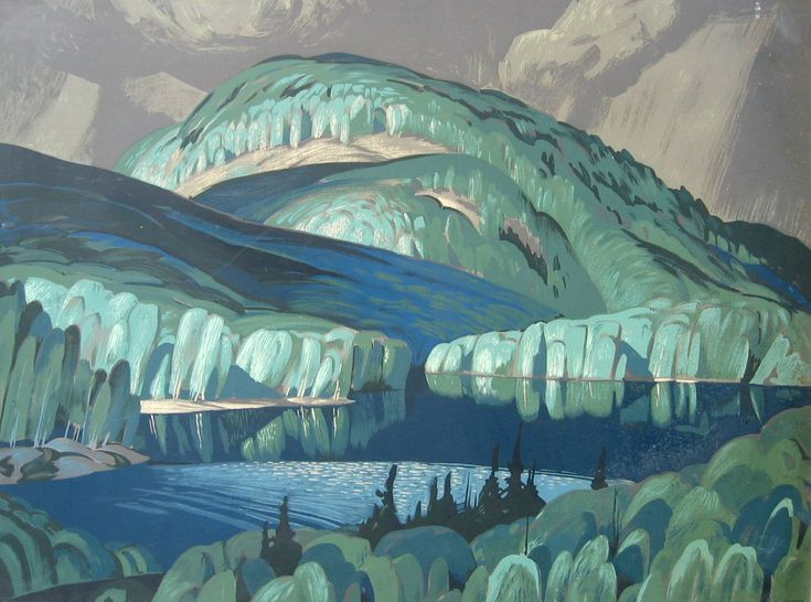 Alfred Joseph Casson (Canadian, 1898-1992), Poplar. Silkscreen, 30 x 40 in.