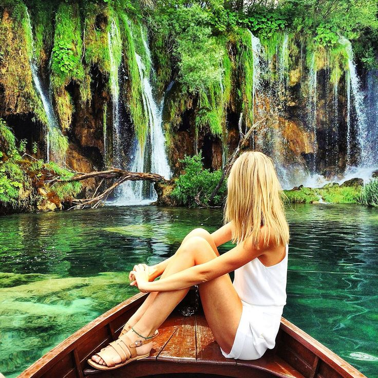 """Hot tip: Start early. """"We made it to Plitviče Lakes National Park the moment it opened and were able to experience its enormous beauty on our own,"""" she says on her blog. If you wait an hour more, the boardwalks are overrun with selfie stick–toting tourists, so hurry!"""