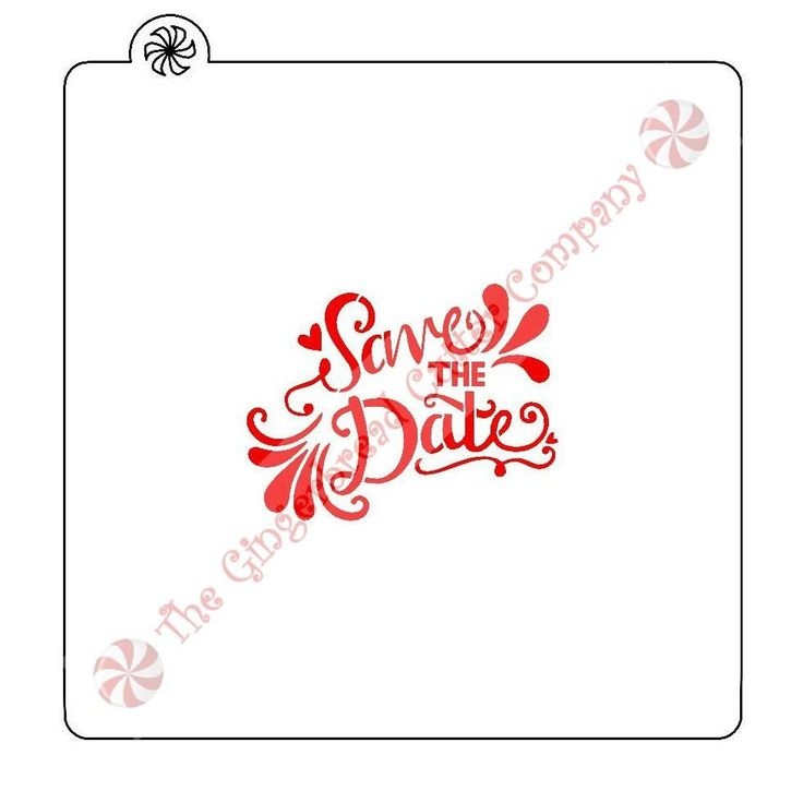 Save The Date Cookie Stencil