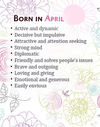 What Your Birth Month April Says About You