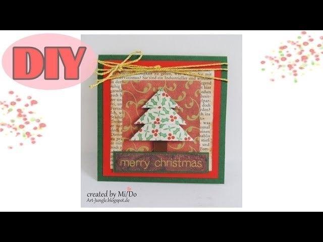 Weihnachtskarten selber basteln #1 - Weihnachtsbaum - Christmas Card DIY