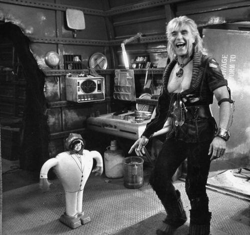 Richardo Montablan goofing around on the set of Star Trek II.