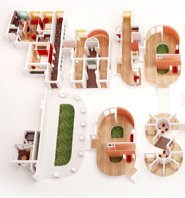 Interior Design on Typography Served